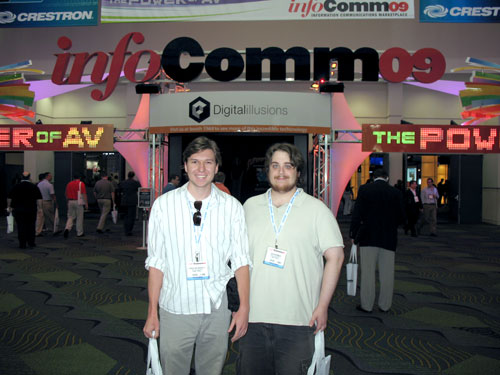 Christian and Dan are ready to experience InfoComm09