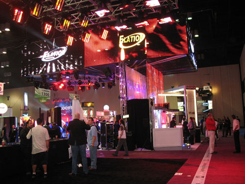 Here's an impressive LED light display at InfoComm