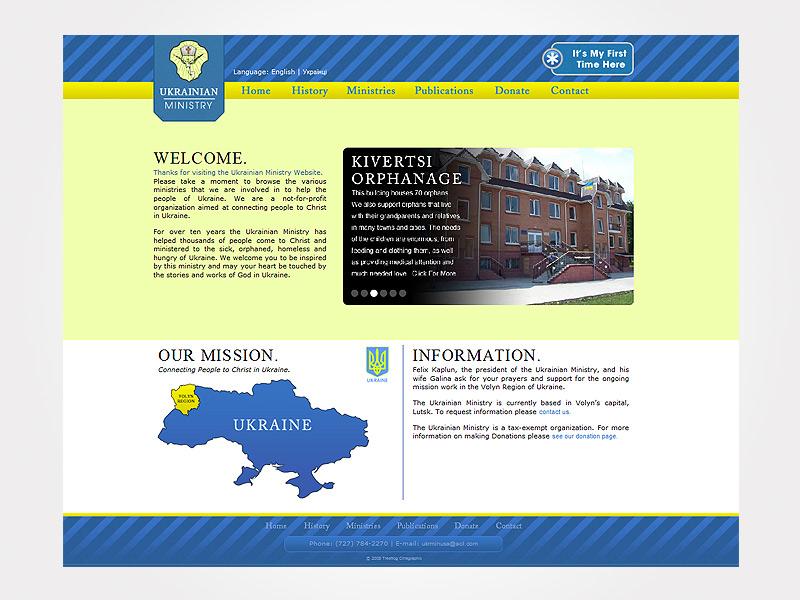 Silver Communicator Award for Ukrainian Ministry Website