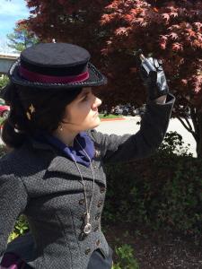 Susan as Sherlock Holmes