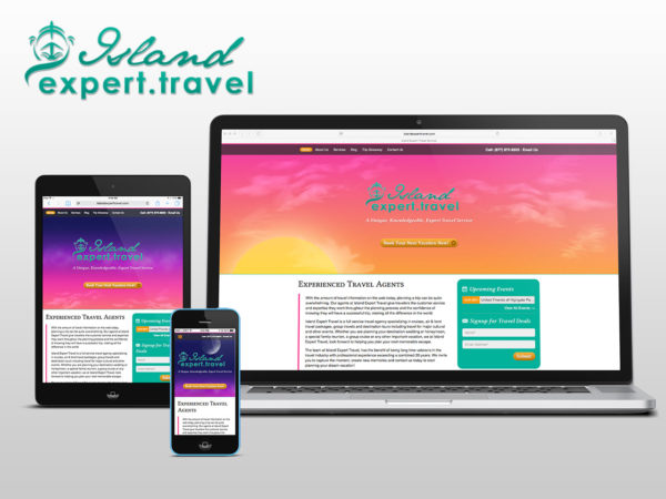 island expert travel responsive website