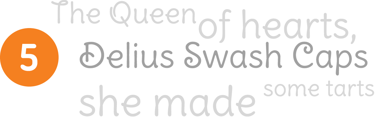 delius-swash-font