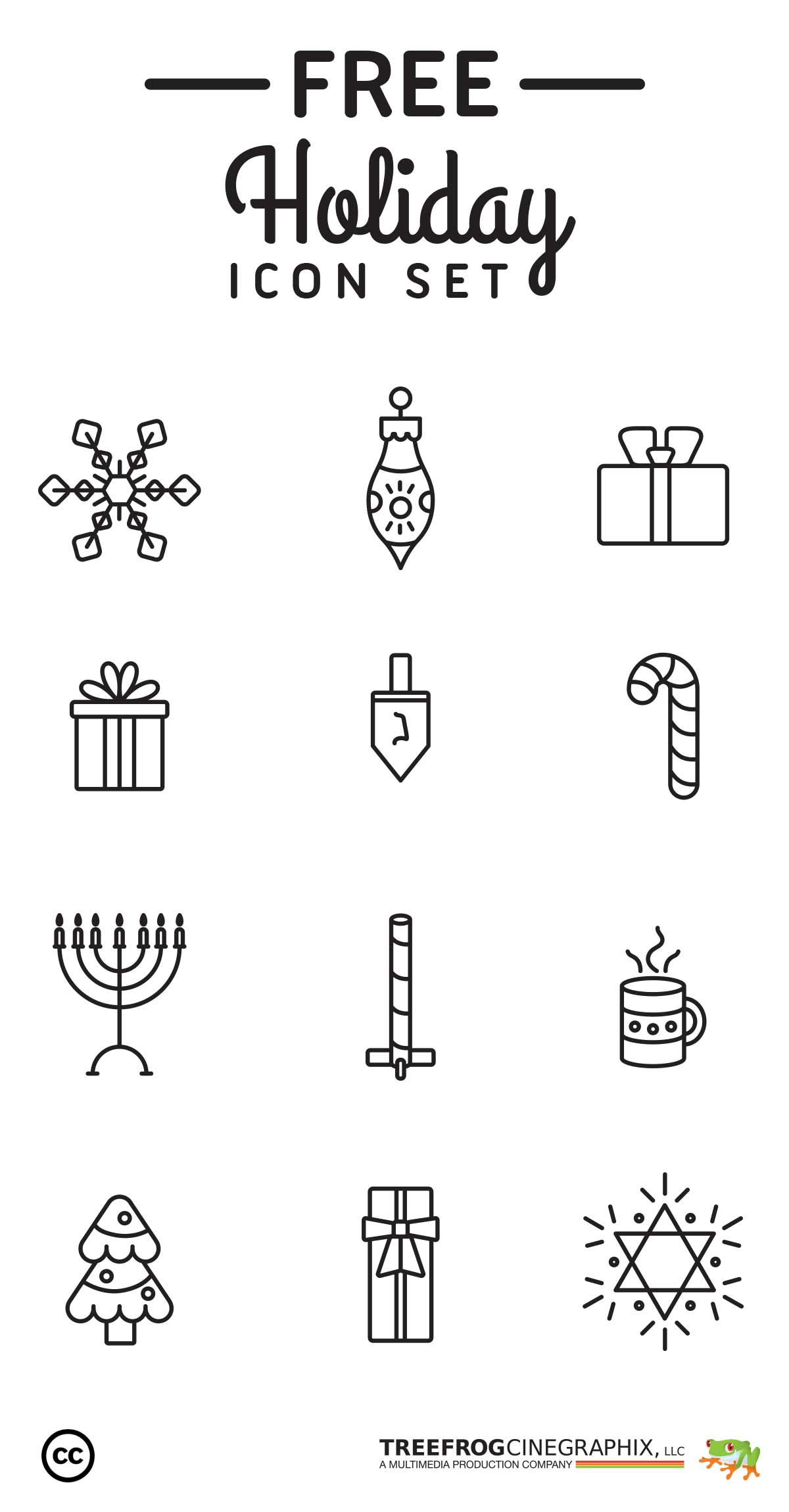 download free holiday icon set