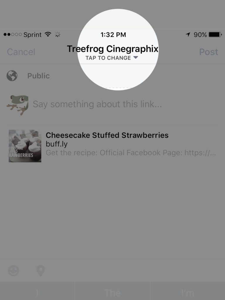 Share Facebook Posts - Mobile Device