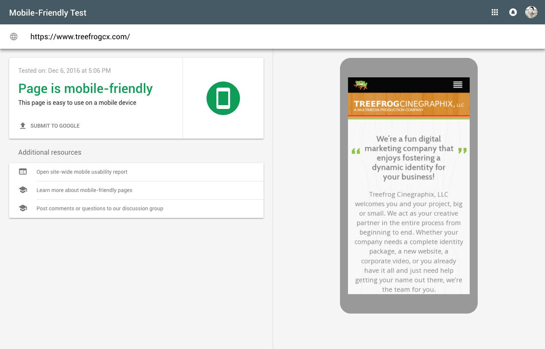 google mobile test tool