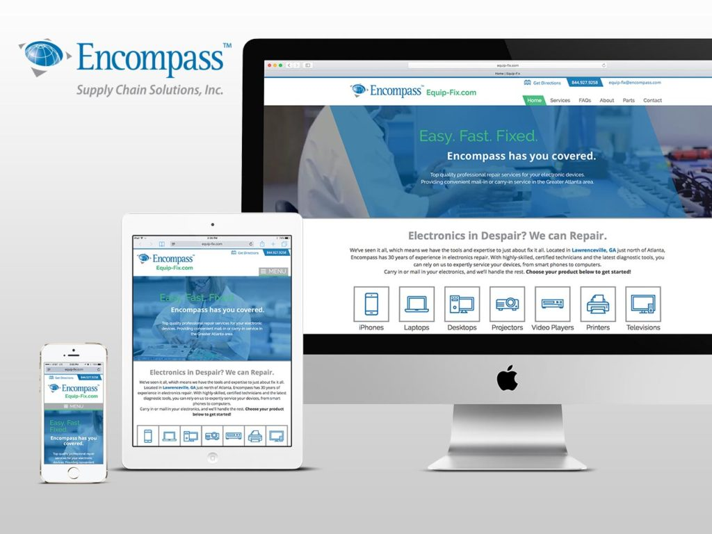 encompass equip-fix responsive website